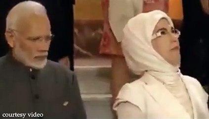 Turkey First Lady Emine Erdogan Ignores Narendra Modi
