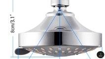 ADJUSTABLE 4 INCH SHOWER HEAD | HIGH PRESSURE SHOWER HEAD | 5 SPRAY MODES SHOWER HEAD