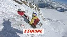 un slalom géant de pente raide à plus de 4 000 mètres d'altitude - Adrénaline - Ski freeride