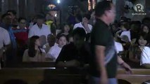 Bong Revilla prays inside Imus Cathedral after plunder acquittal