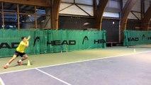 Travail du jeu de jambes de défense au tennis
