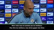 """16e j. - Guardiola : """"Nous ne sommes pas les meilleurs en Europe"""""""