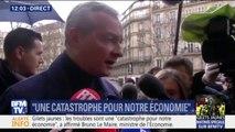 """Bruno Le Maire: les troubles lors des manifestations des gilets jaunes sont """"une catastrophe pour notre économie"""""""