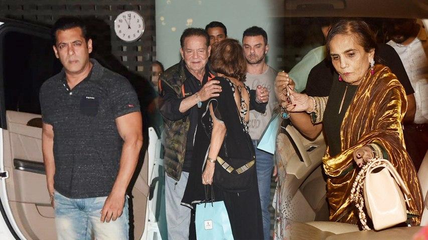 Salman Khan, Malaika Arora, Arbaaz Khan arrive for Salma Khan's birthday; Watch Video   Boldsky