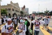 Crowd builds up at Dataran Merdeka, ahead of 2pm anti-Icerd rally
