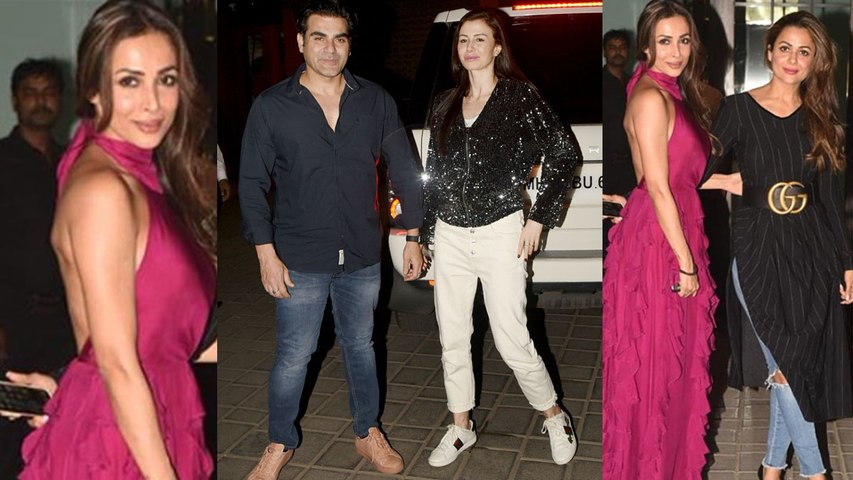 Malaika Arora looks sassy in pink gown at Ex Mother in law Salma Khan's birthday   Boldsky