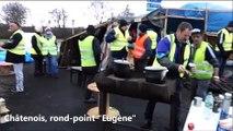 """Les Gilets jaunes à Châtenois, rond-point """"Eugène"""" (08/12/18)"""