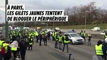 À Paris, les Gilets jaunes tentent de bloquer le périphérique