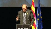 El president de la Generalitat, Quim Torra, diu que els catalans estan disposats a tot per ser lliures