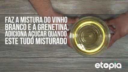 Gelatina de Vinho Branco