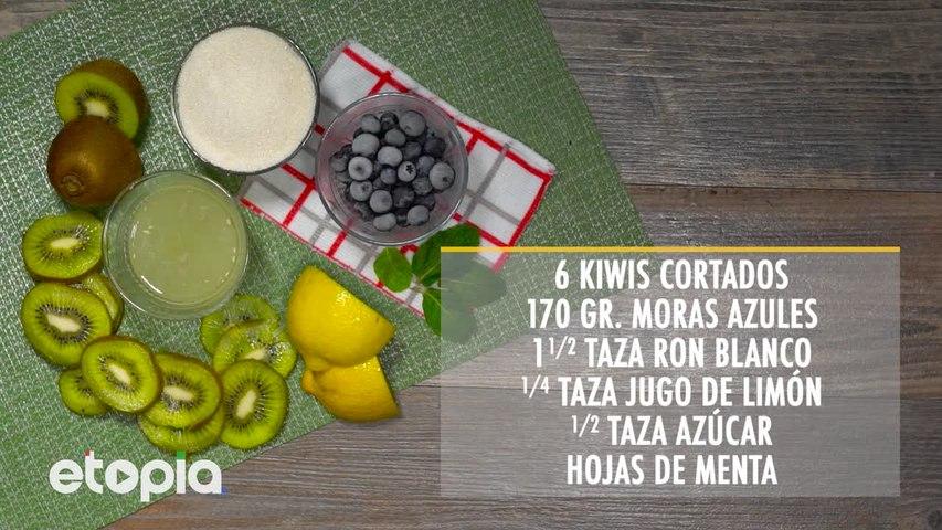 Mojito de Kiwi y Mora Azul