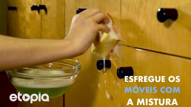 Elimina a gordura dos armários da cozinha