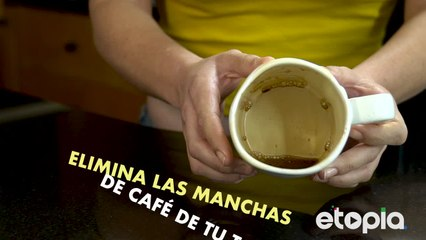 Café: deliciosa fuente de manchas.