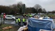 Gilets jaunes à Guingamp. Ralentissement à Kernilien et opération escargot en centre-ville