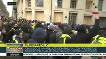 """Nueva jornada de protestas de los """"chalecos amarillos"""" en Francia"""