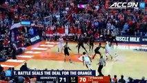 Syracuse's Tyus Battle Hits Game-Winning Jumper vs. Georgetown