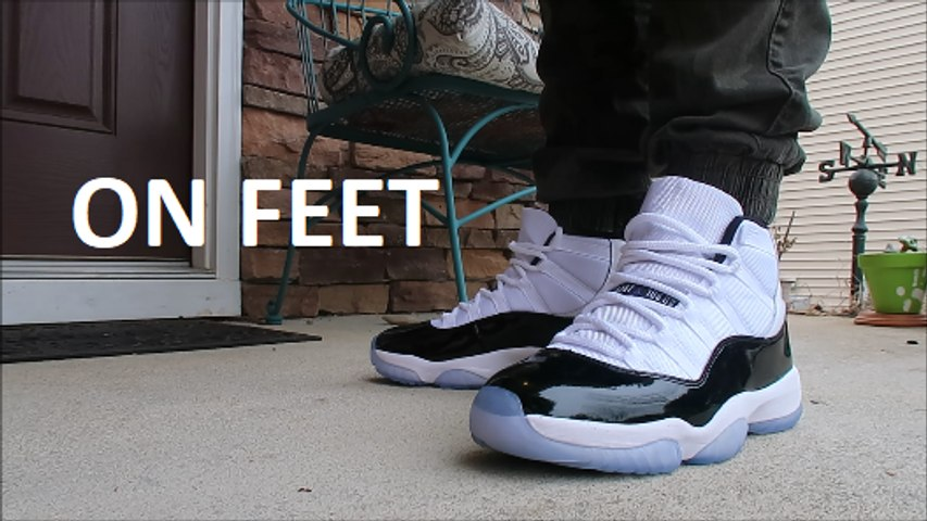 Air Jordan 11 Concord 2018 Retro Sneaker Review Unboxing On Feet