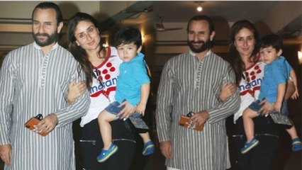 Taimur Ali Khan Looks So CUTE As Mommy Kareena & Papa Saif Celebrate his 3rd Birthday With Gifts