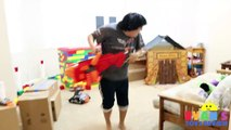 Nerf Gun War Kid vs Daddy! Protect the Fort! Family Fun Playtime with Ryan ToysR