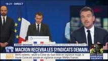 Gilets jaunes: Macron recevra les partenaires sociaux ce lundi
