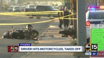 Motorcyclists struck by hit-and-run driver