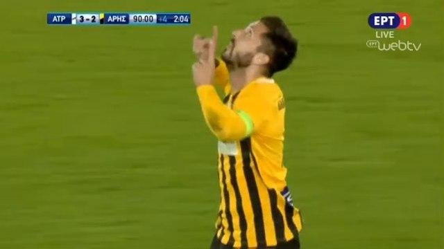 3-2 Dimitrios Diamantopoulos Goal - Atromitos 3-2 Aris - 09.12.2018