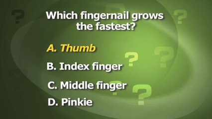 Which Fingernail Grows the Fastest?