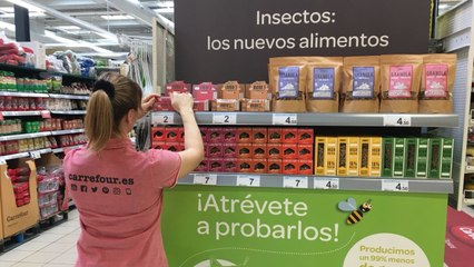 Carrefour vende alimentos à base de insetos
