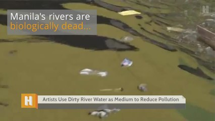 Artists Use Dirty River Water as a Medium to Reduce Pollution
