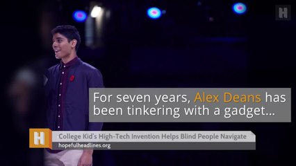 College Kid's High-Tech Invention Helps Blind People Navigate