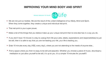 Improving Your Mind Body And Spirit
