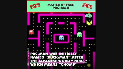 Did you know every ghost in Pac-Man has a name and more facts about your favorite arcade game!