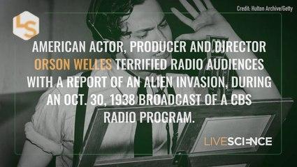 80 Years Ago, 'News' of an Alien Invasion Terrified Radio Audiences
