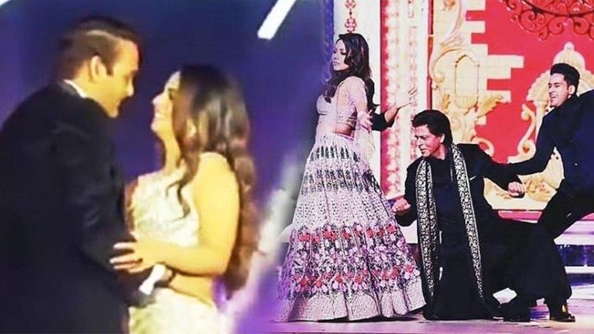 Isha Ambani की Sangeet Ceremony में Shahrukh Khan ने Gauri Khan संग लगाया Dance का तड़का | Boldsky