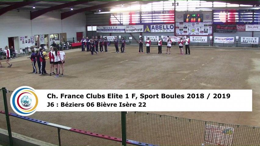 Quatrième tour, France Club Elite 1 F, J6,  Béziers contre Bièvre Isère, saison 2018/2019