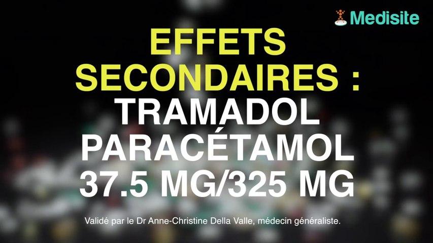 Tramadol/Paracétamol 37.5 mg/325 mg : ses effets...