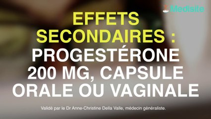 effets secondaires trop de progesterone