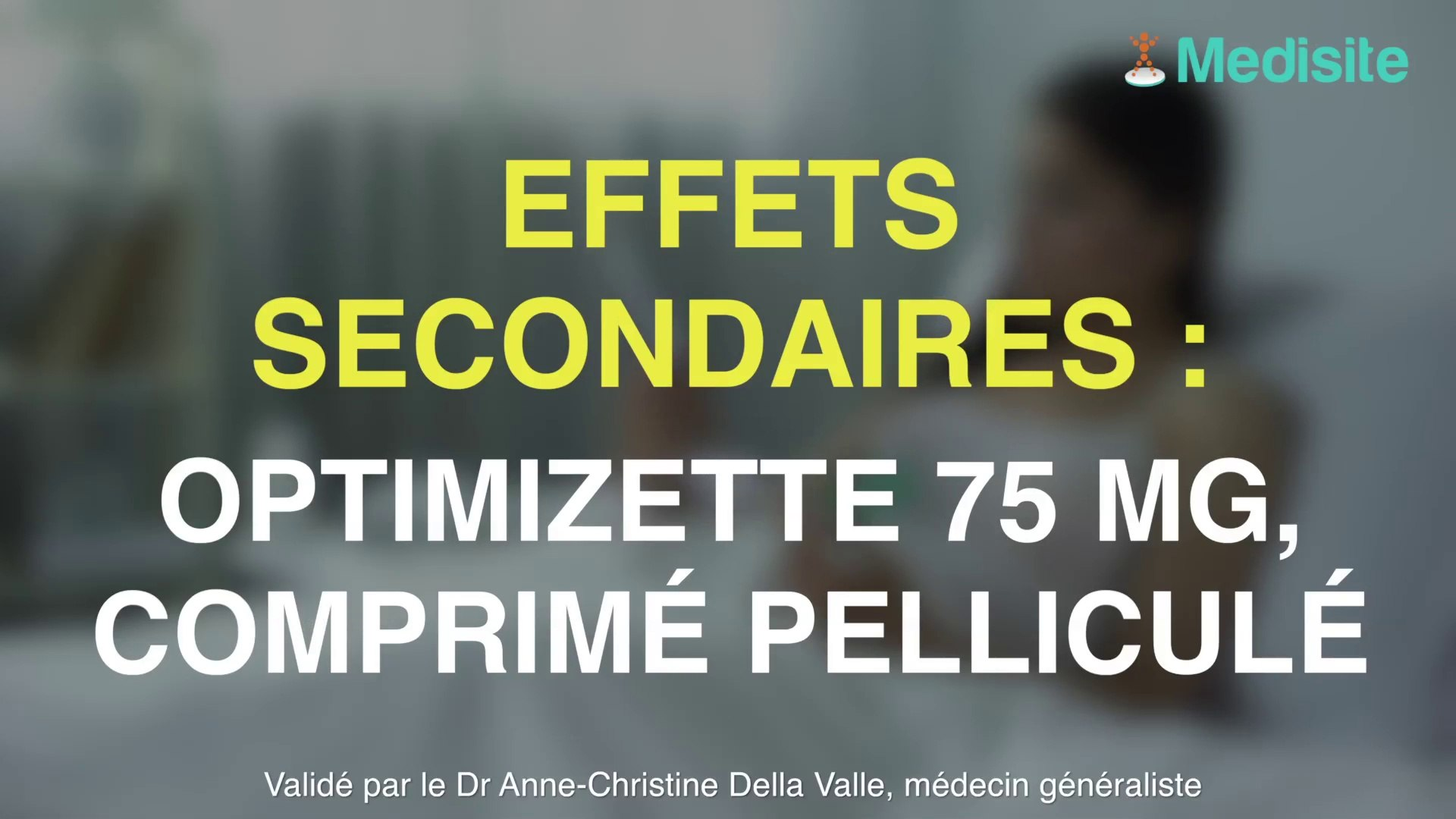 Optimizette 75 microgramme : d'importants effets secondaires ...