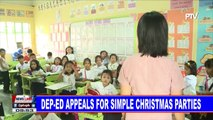 DepEd appeals for simple Christmas parties