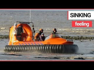 7 Year Old Boy is Rescued After Getting Stuck in the Mud on a Beach | SWNS TV