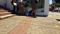 Homem sofre queda na Rua Paraná fica ferido