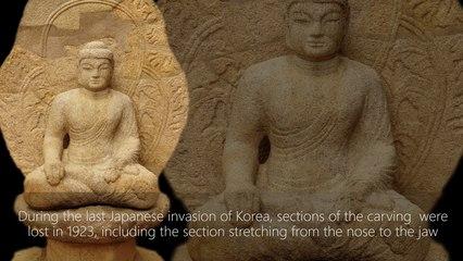Namsan Samreunggyeo Stone Yeoraejwasang 668–935 C.E.
