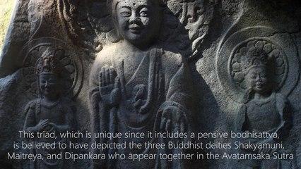 Rock-carved Buddha Triad in Yonghyeon-ri 500-660 C.E.
