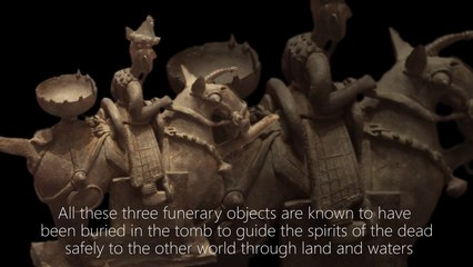 Earthenware Funerary Object in the Shape of a Warrior on Horseback 500-600 C.E.