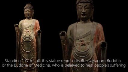 Gilt-bronze Standing Bhaisajyaguru Buddha 700 – 800 C.E.
