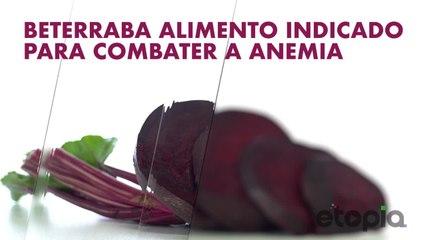 Beterraba, indicado para combater a anemia.