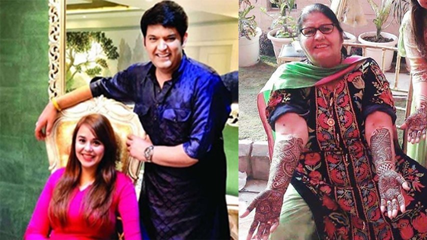 Kapil Sharma - Ginni Wedding: Kapil's mother was seen excited at the Mehendi Ceremony | Boldsky