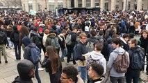 Convergence de lycéens à République, à Rennes