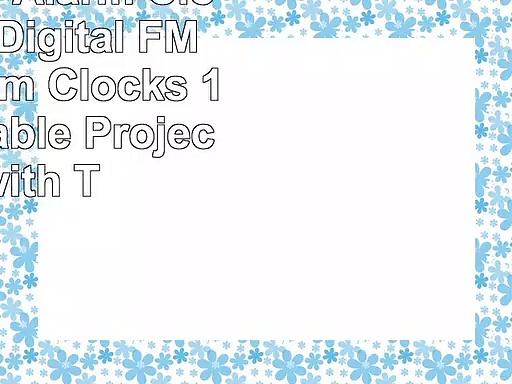 Projection Alarm Clock Abwei Digital FM Radio Alarm Clocks 180 Adjustable Projector with