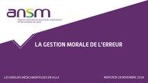 Les erreurs médicamenteuses en ville - La gestion morale de l'erreur